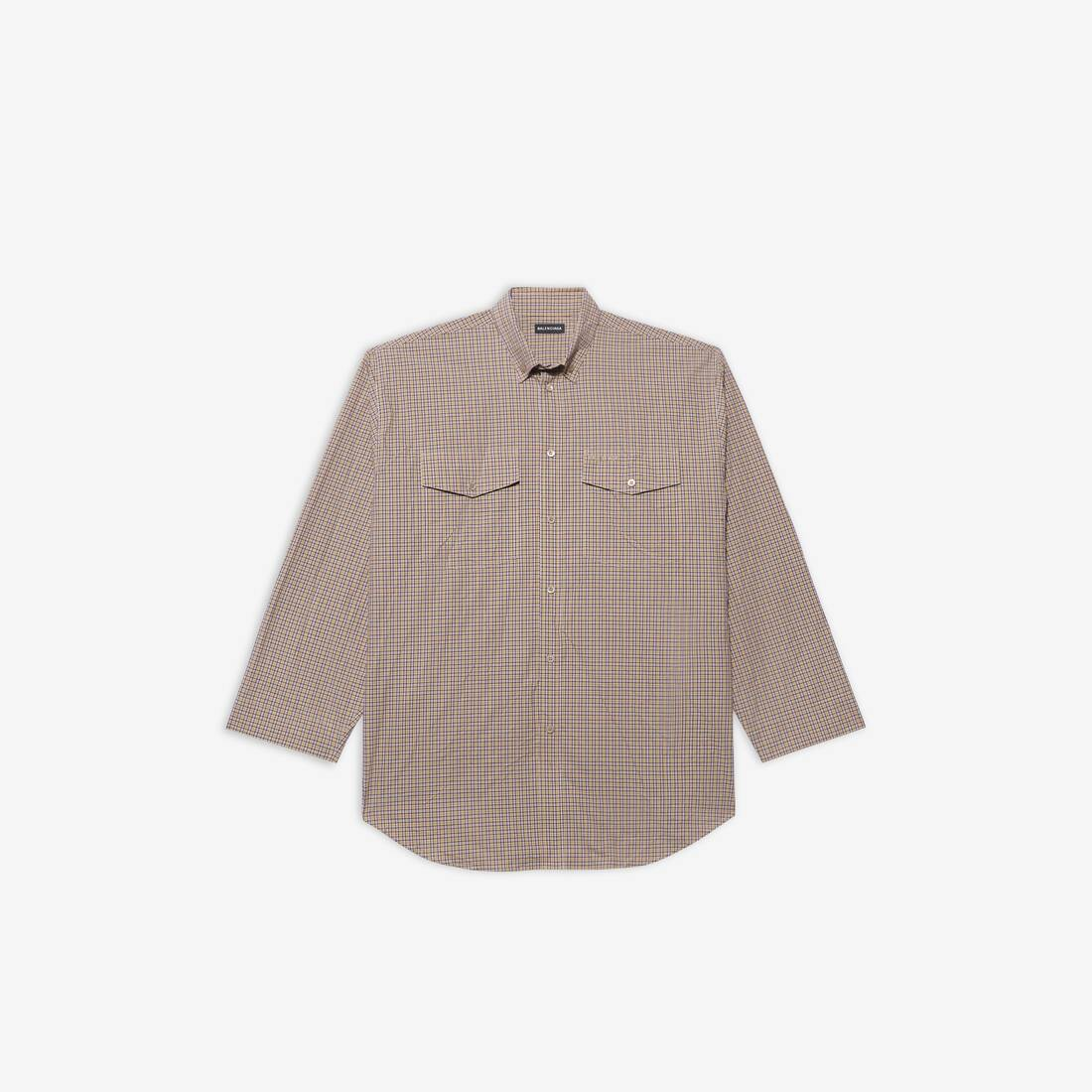 Display zoomed version of oversize button-down shirt 1