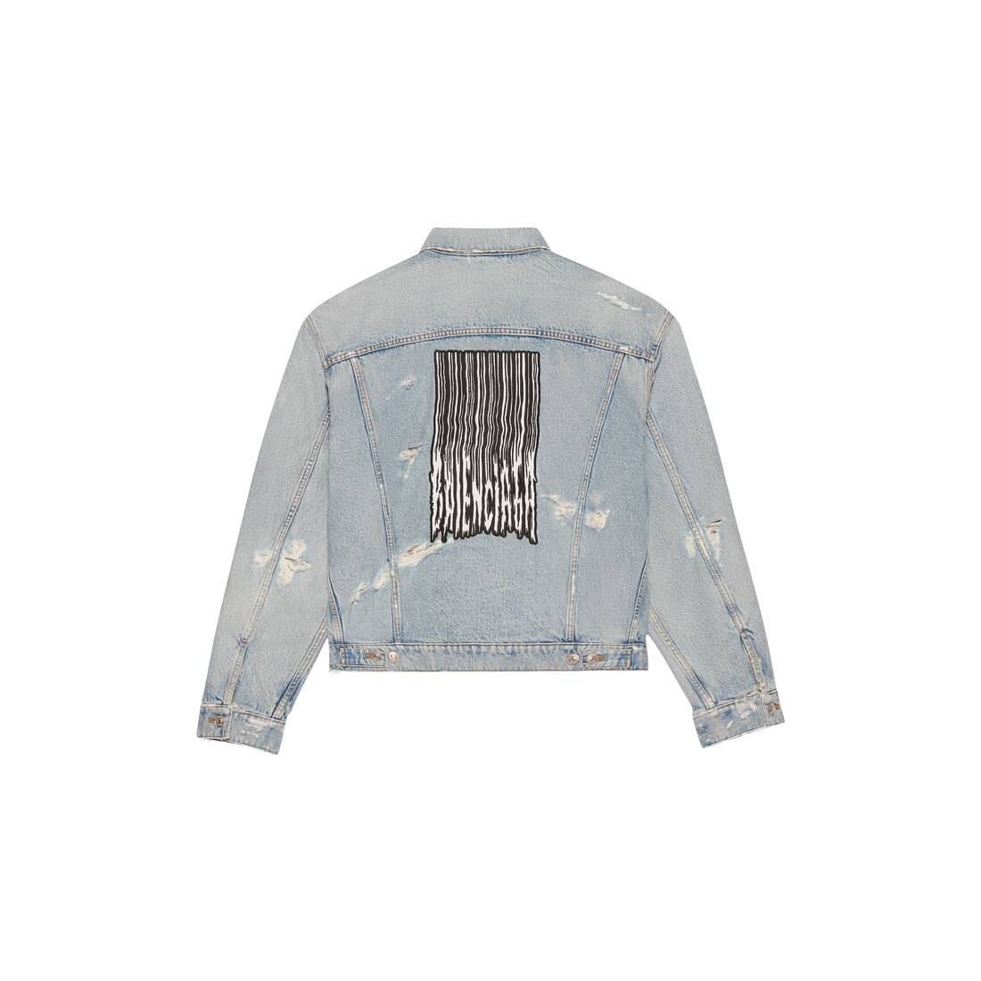 Display zoomed version of barcode large fit jacket 2