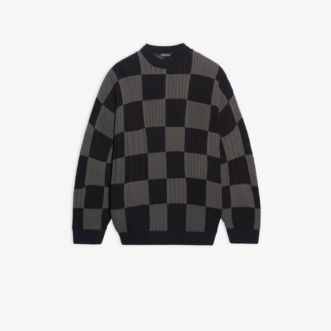 Display zoomed version of checkered crewneck 1