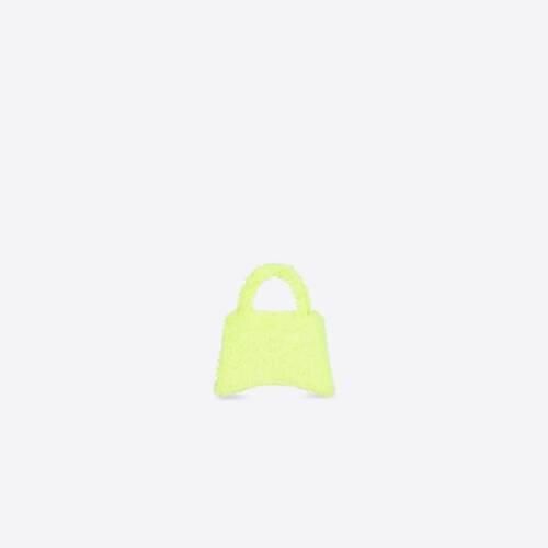 fluffy hourglass top handle bag