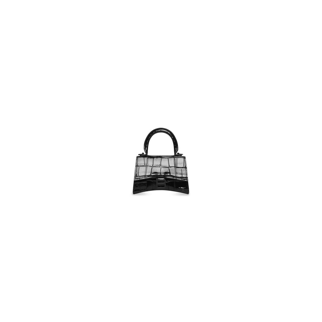 Display zoomed version of hourglass mini top handle bag with chain 1