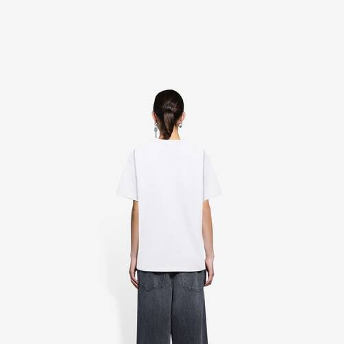 real balenciaga medium fit t-shirt