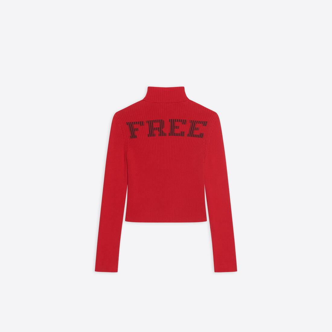 Display zoomed version of free washed out fitted turtleneck  2