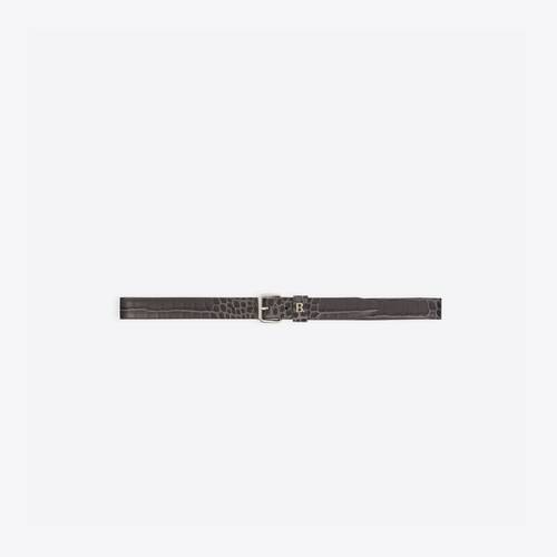 logo rolled buckle belt