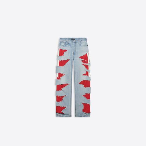 pantalón slashed loose fit