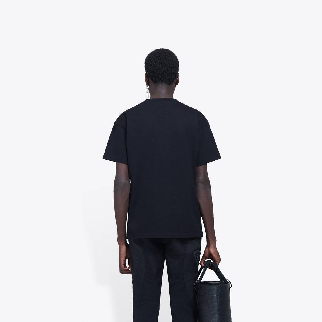 Display zoomed version of real balenciaga medium fit t-shirt 7