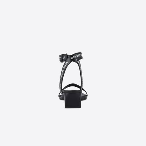 allover logo round 40mm ankle strap sandal