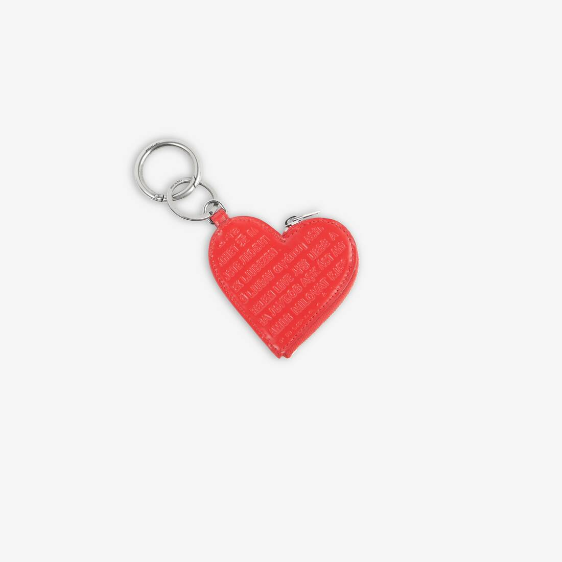 Display zoomed version of heart coin case keyring 2
