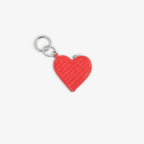 heart coin case keyring