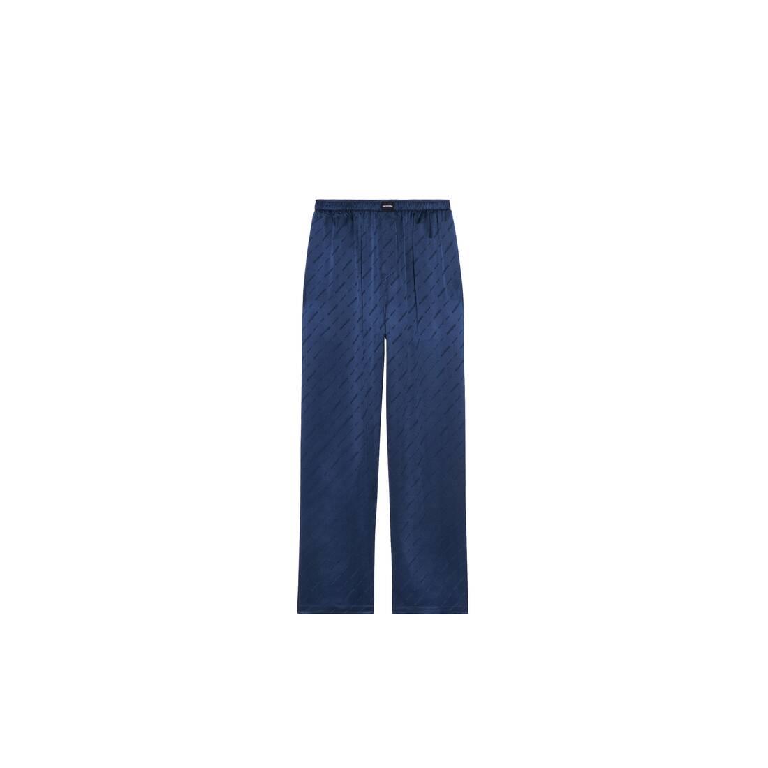 Display zoomed version of allover logo pajama pants 1