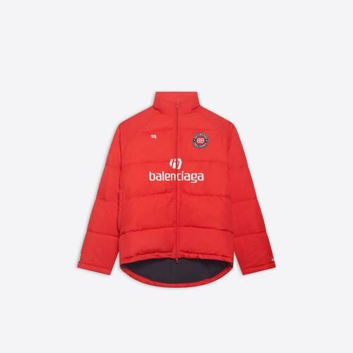 soccer puffer jacket