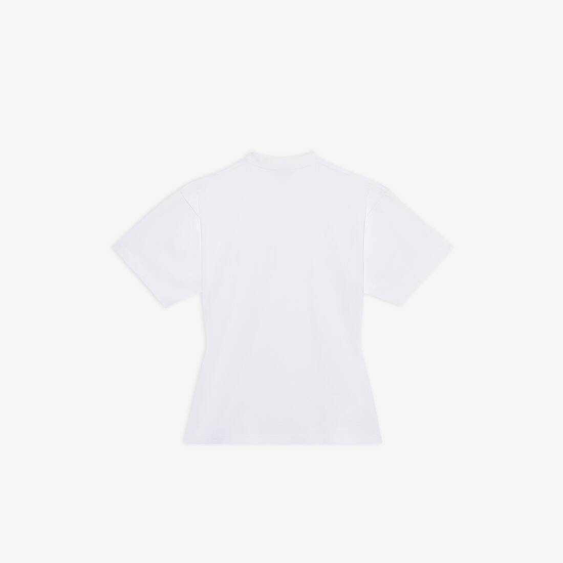 Display zoomed version of scribble logo curved t-shirt 2