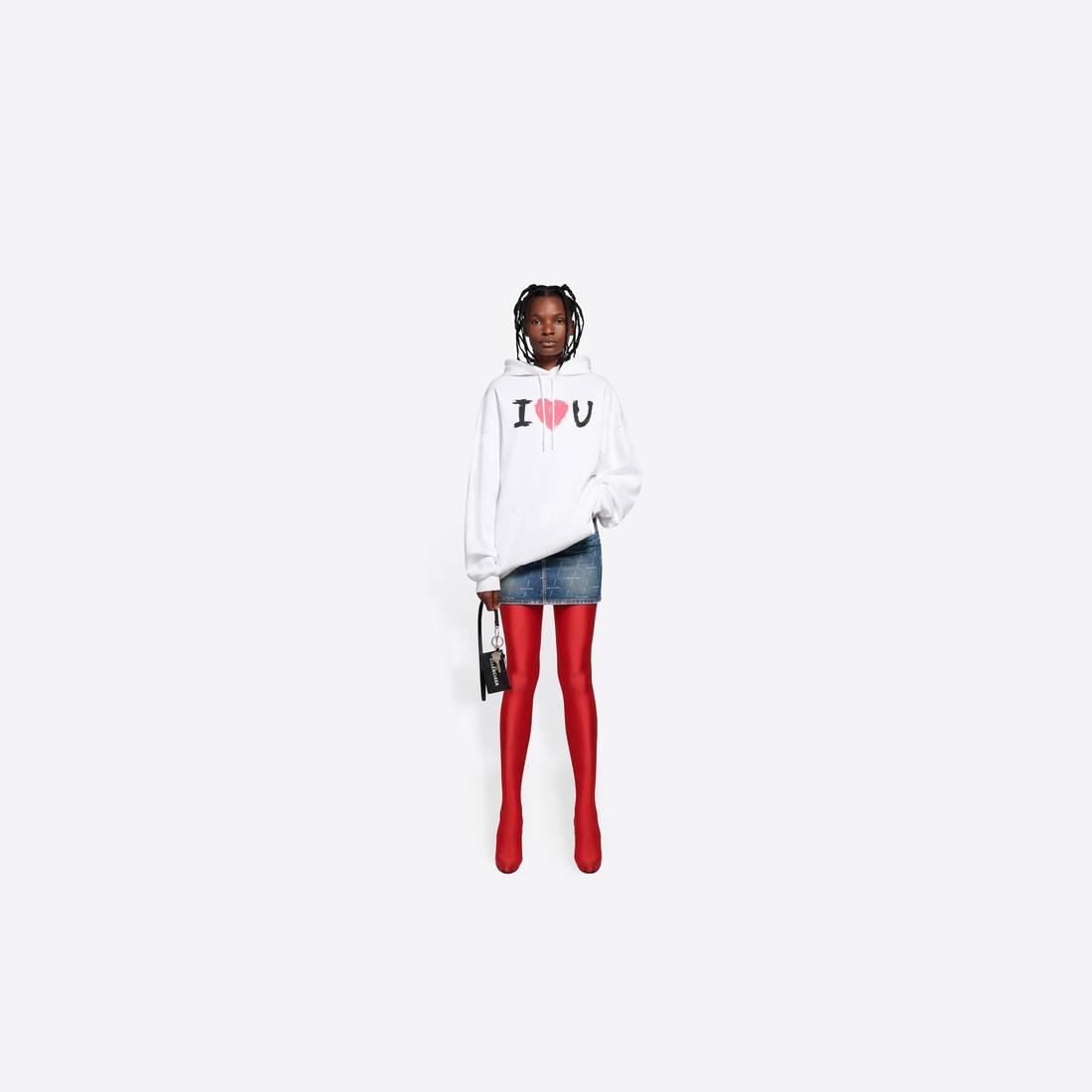 Display zoomed version of i love u medium fit hoodie 6