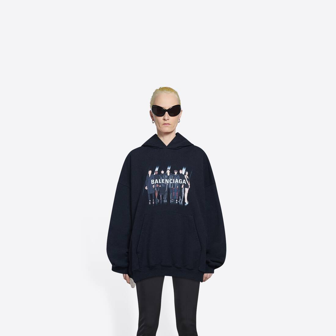 Display zoomed version of real balenciaga large fit hoodie 3