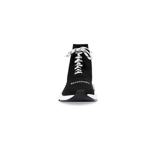 speed lace-up clear sole sneaker
