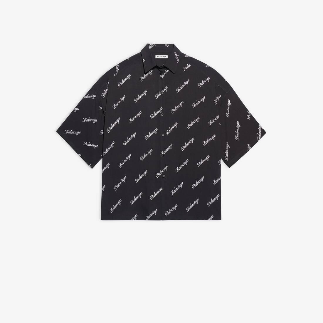 Display zoomed version of allover script logo vareuse shirt 1