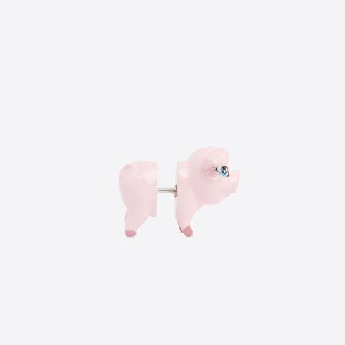 happy pig earring