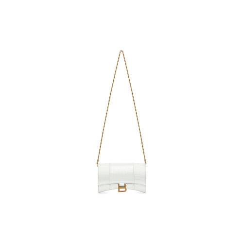 hourglass mini wallet on chain
