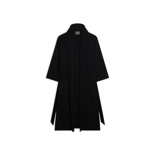 maxi bathrobe coat