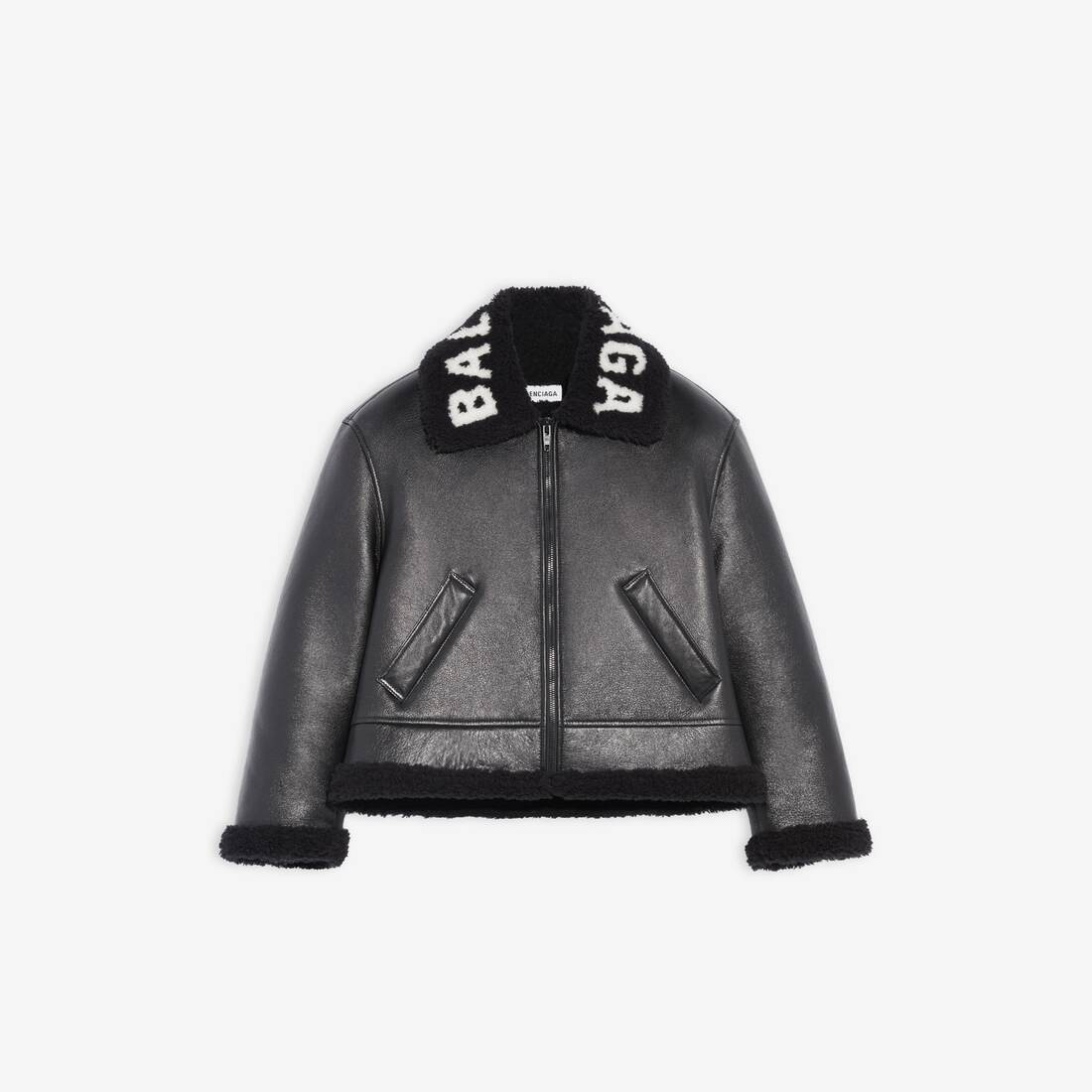 Display zoomed version of cocoon shearling jacket 1