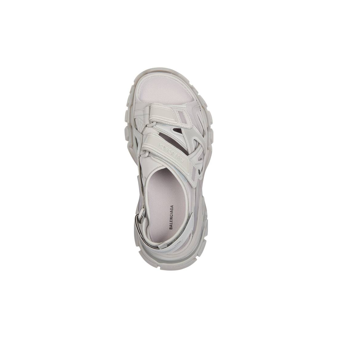 Display zoomed version of track sandal clear sole 1
