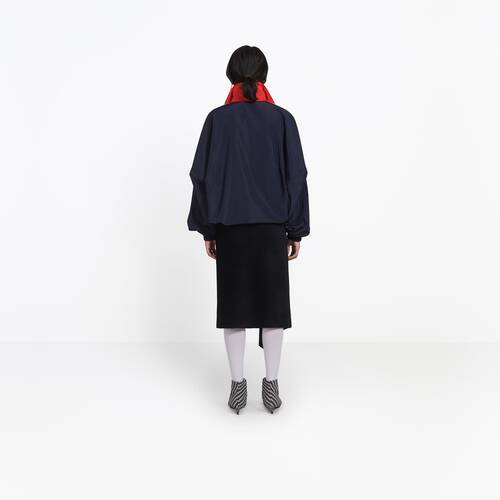 zipped nylon logo jacket