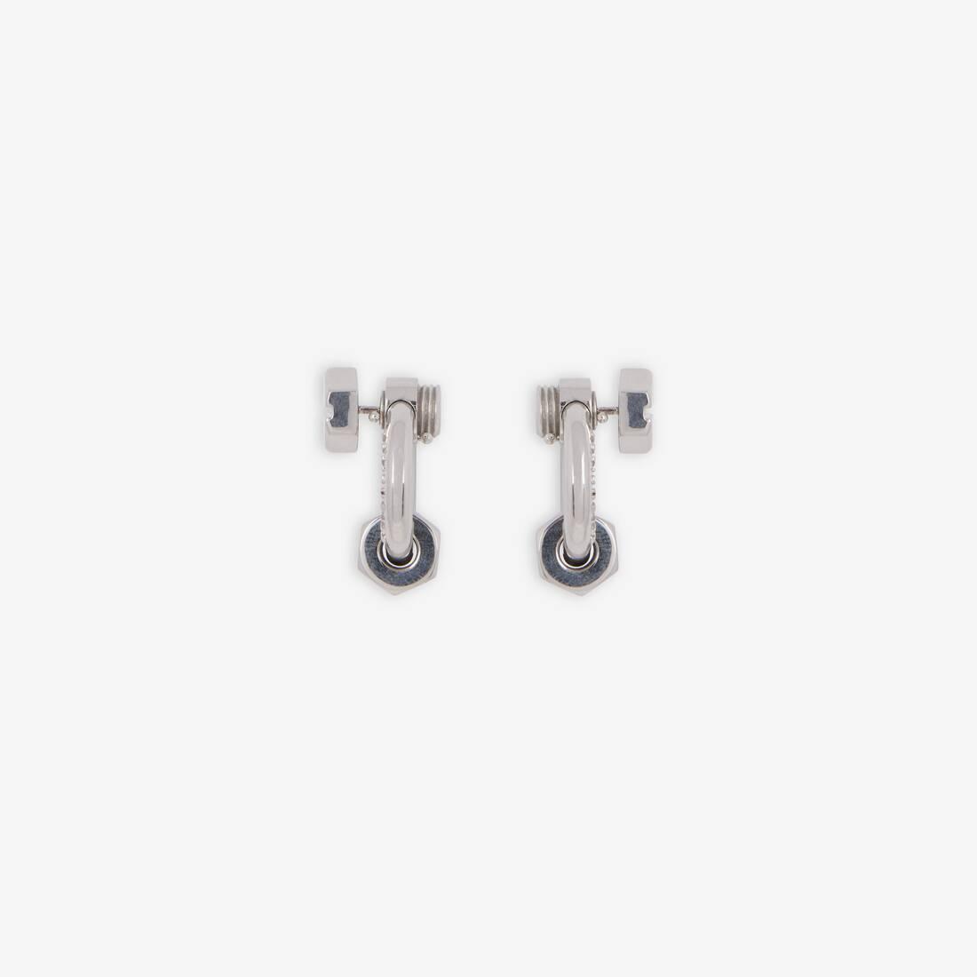Display zoomed version of screw round earrings 3