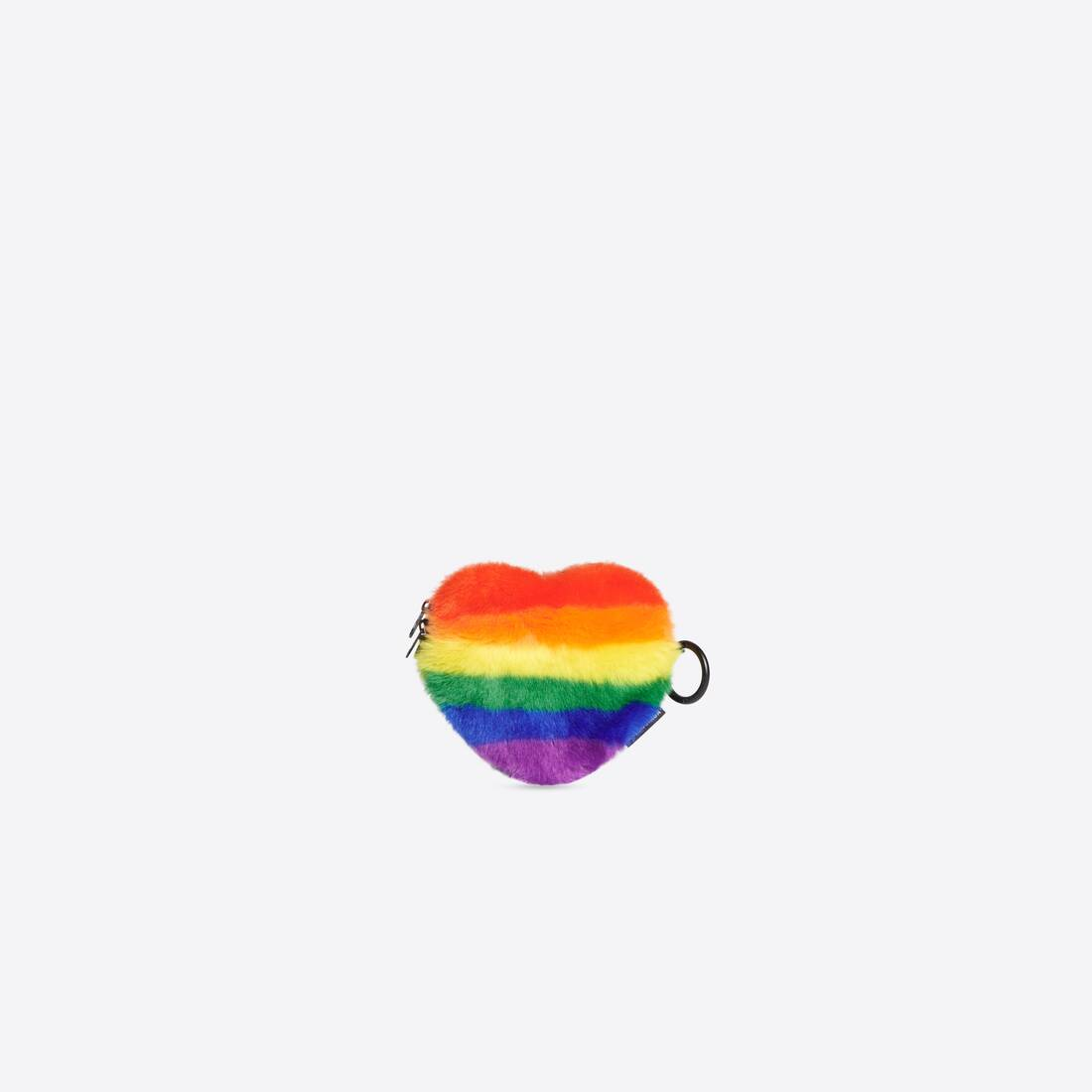 Display zoomed version of pride heart coin purse with strap 1