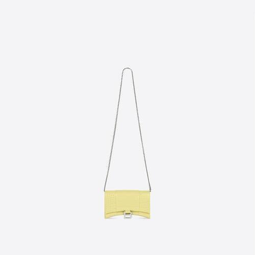 hourglass brieftasche mit kette