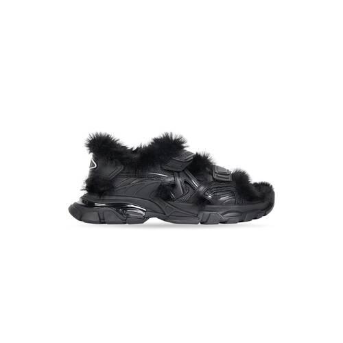 sandale track fake fur