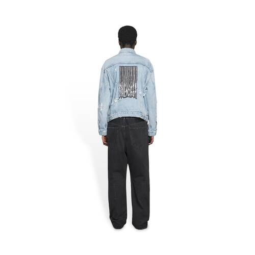 barcode large fit jacket
