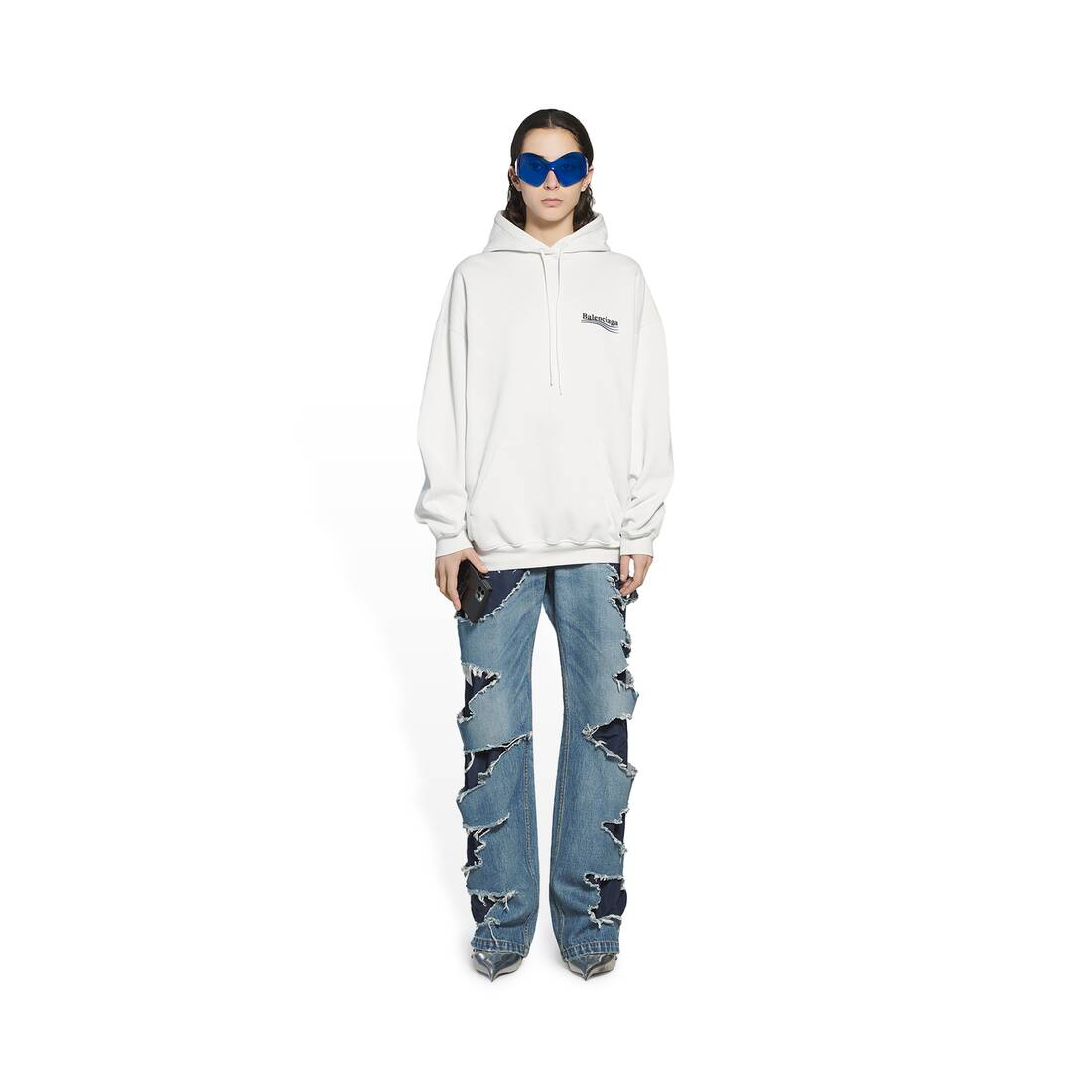 Display zoomed version of political campaign medium fit hoodie 3
