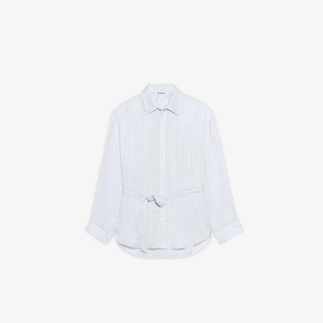 Display zoomed version of backwrap shirt 1