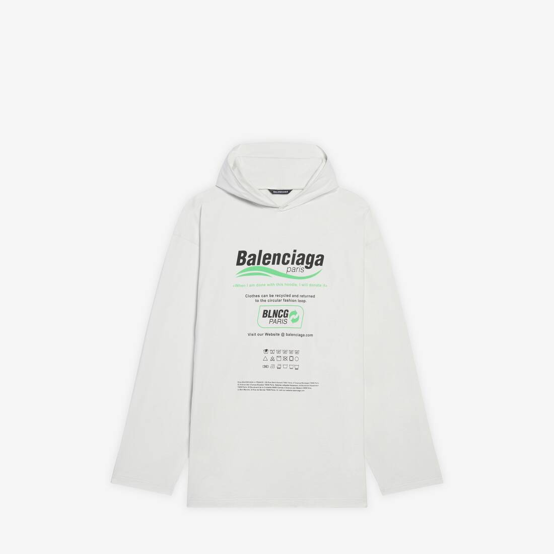 Display zoomed version of dry cleaning hooded t-shirt 1