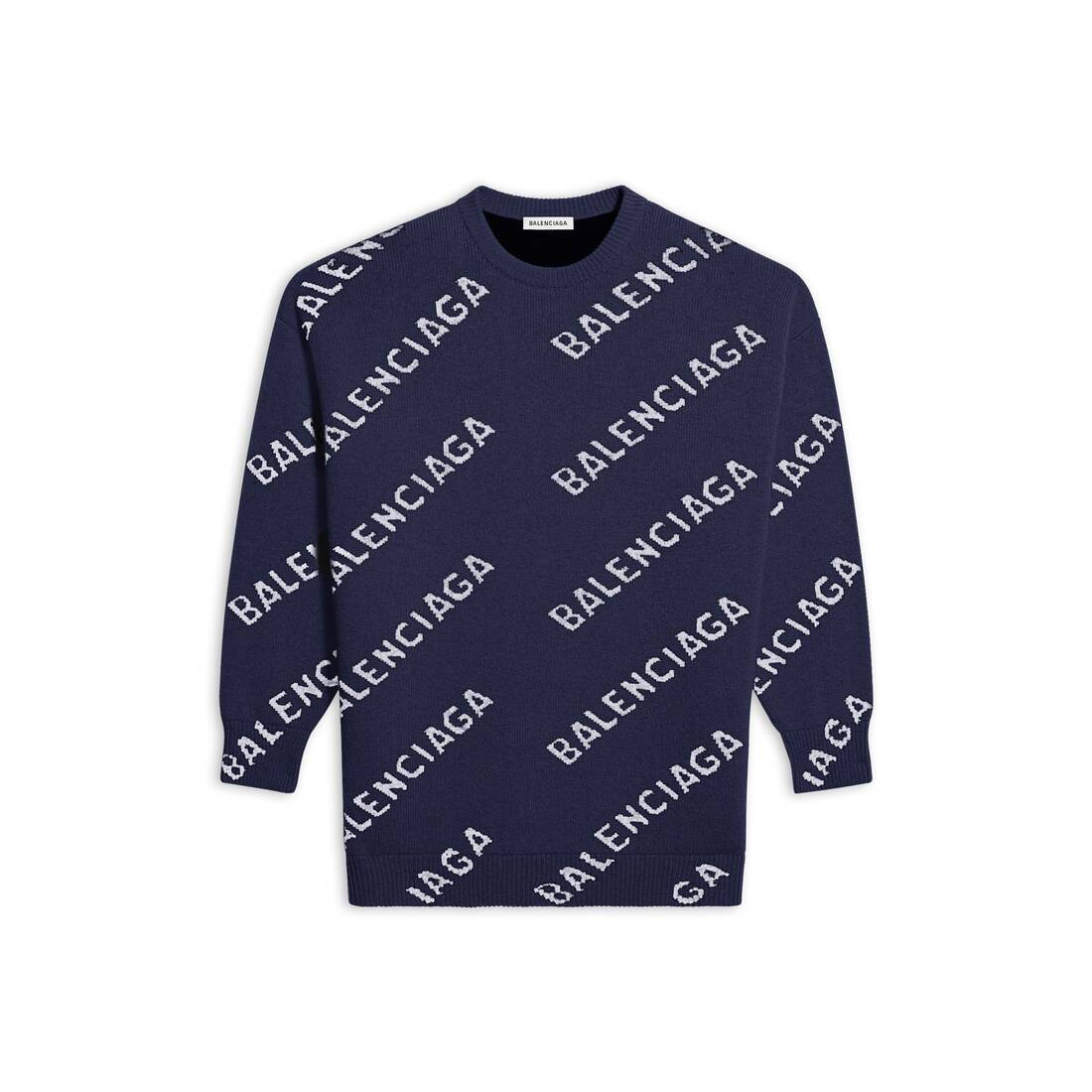 Display zoomed version of allover logo crewneck 1