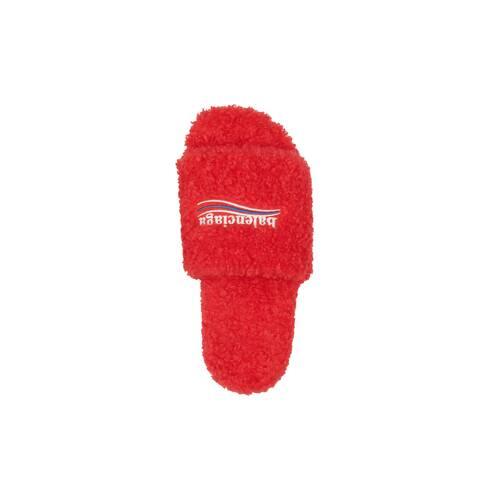furry slide sandal