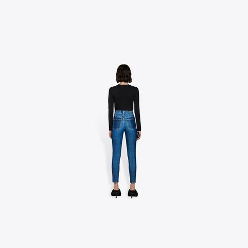 trompe-l'oeil denim leggings