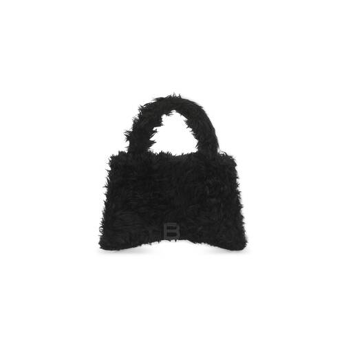 fluffy hourglass top handle bag