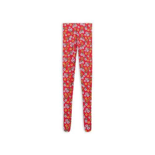 archive floral foot leggings