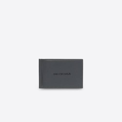 portefeuille carré avec pince à billets cash