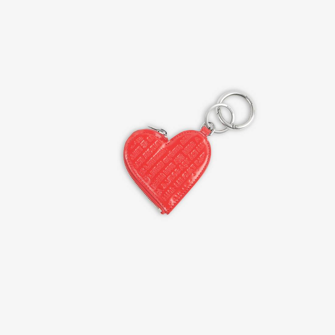 Display zoomed version of heart coin case keyring 1