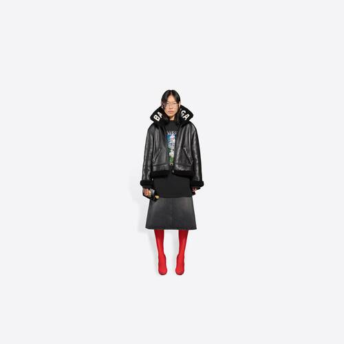 giacca cocoon shearling