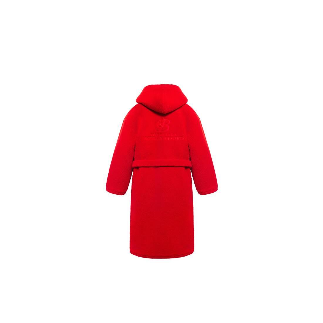Display zoomed version of hooded bathrobe 2