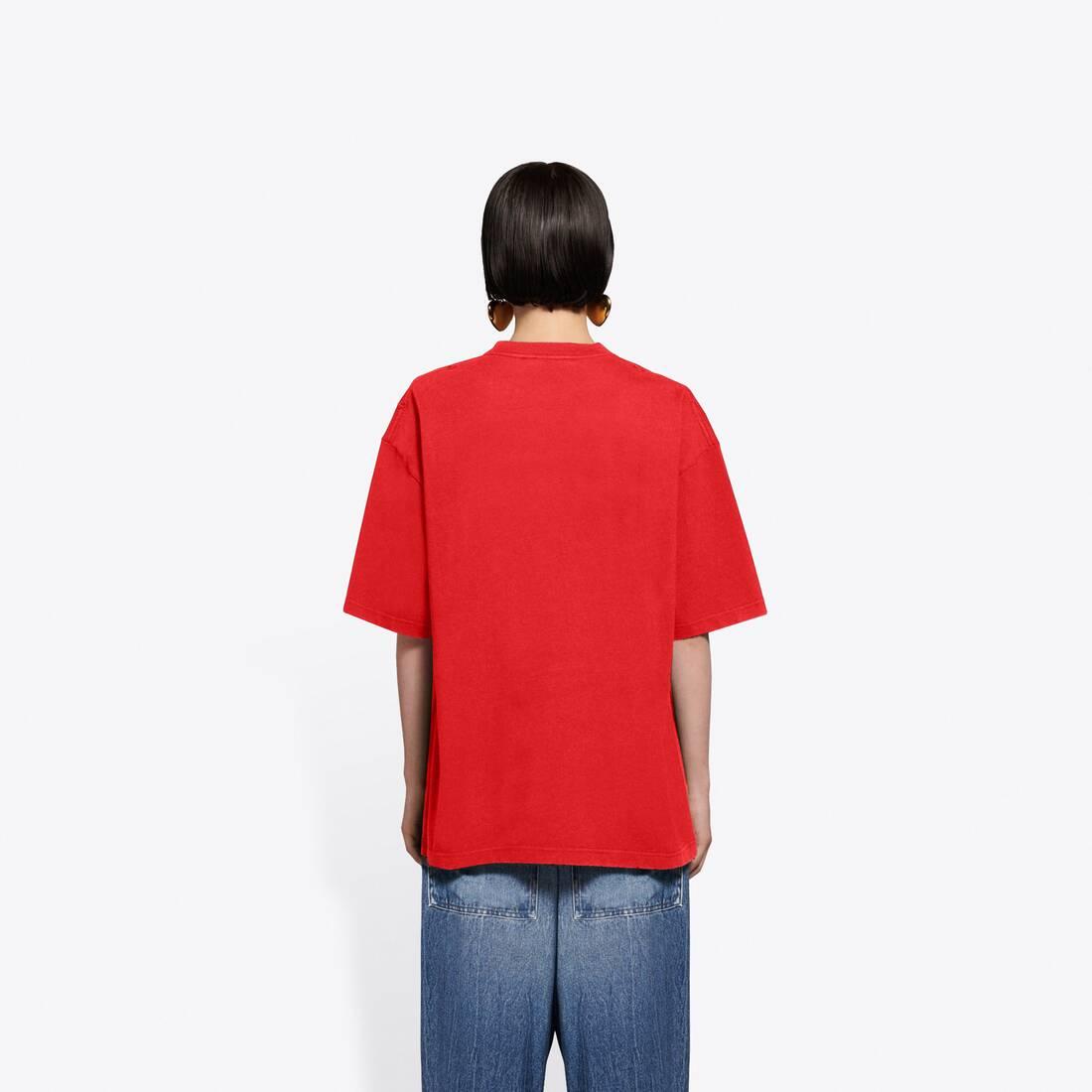 Display zoomed version of real balenciaga medium fit t-shirt  7