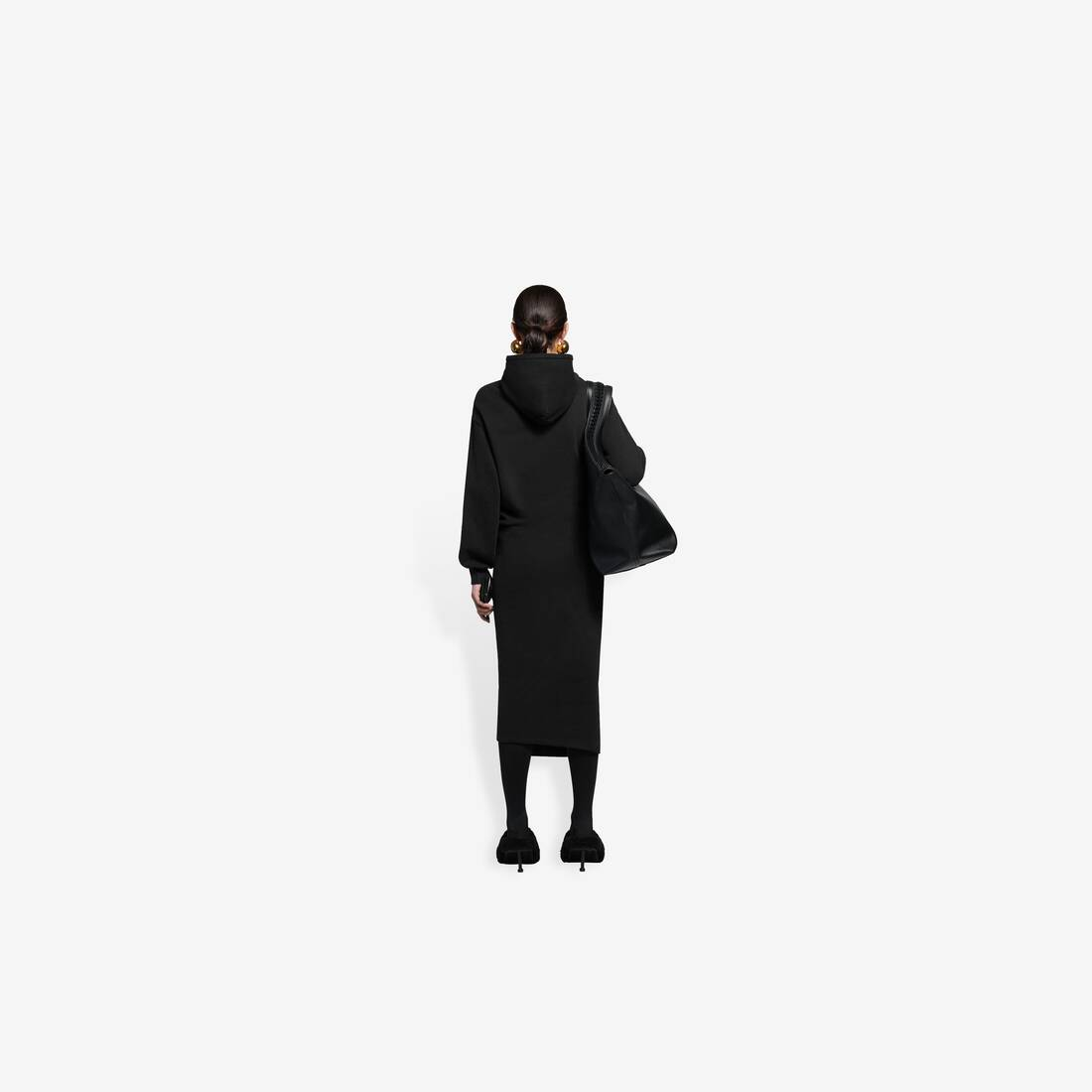 Display zoomed version of easywrap hooded dress 5