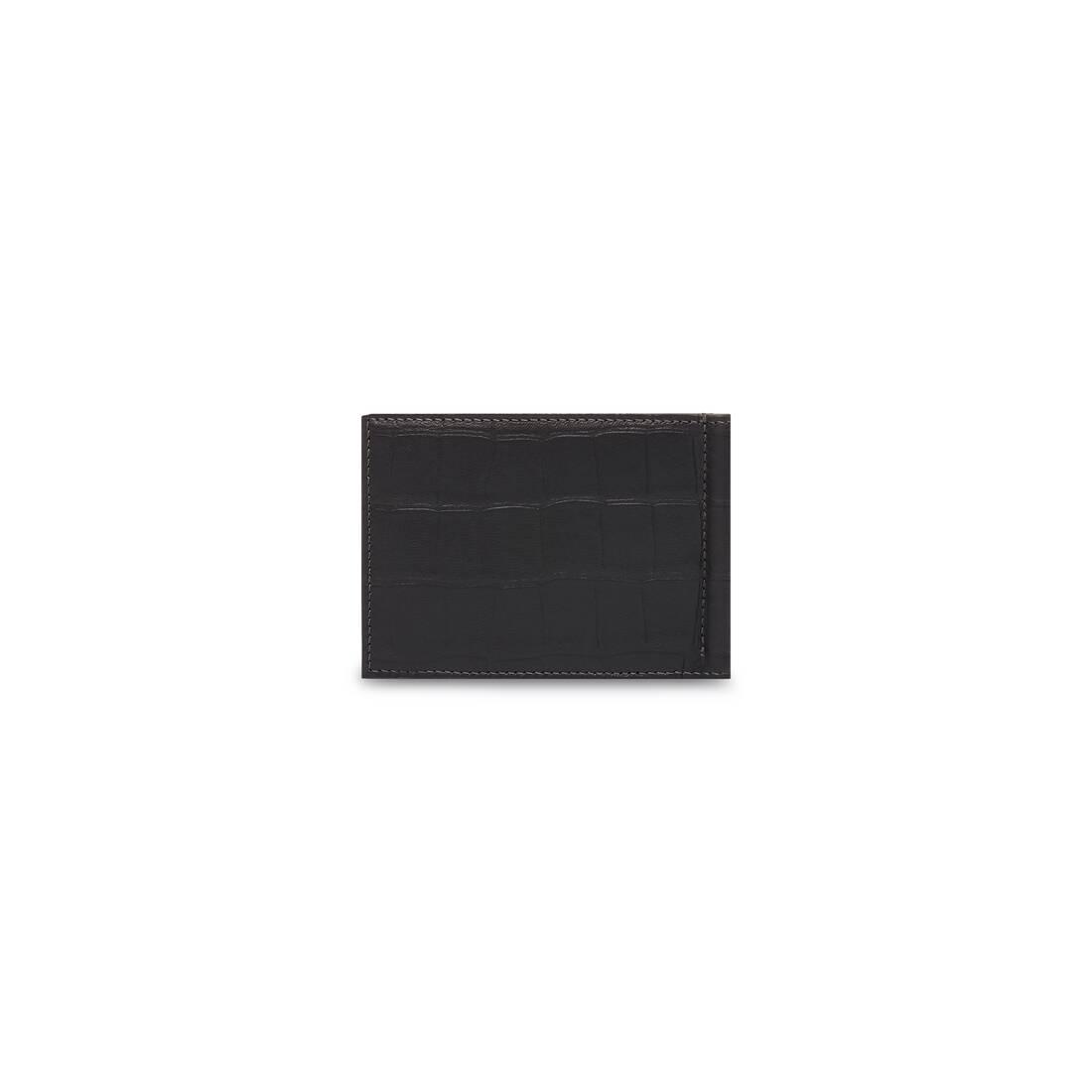 Display zoomed version of porte-cartes plié avec pince à billets cash 2