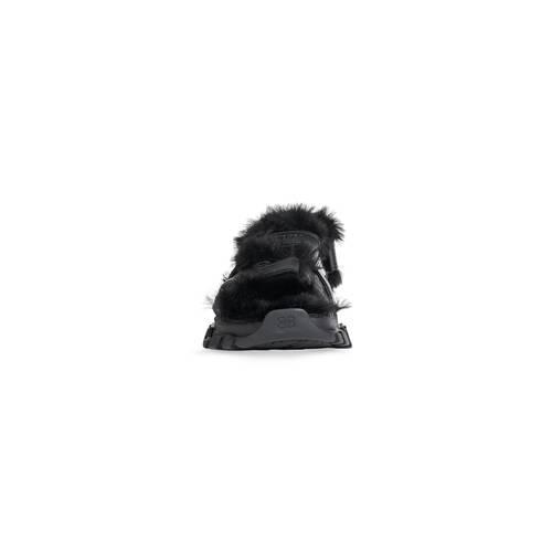 track sandale fake fur