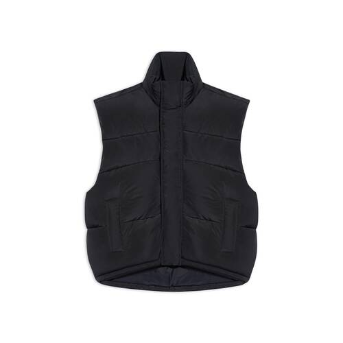 sleeveless cocoon jacket