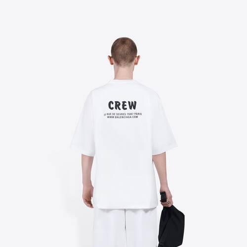 t-shirt crew dalla linea ampia