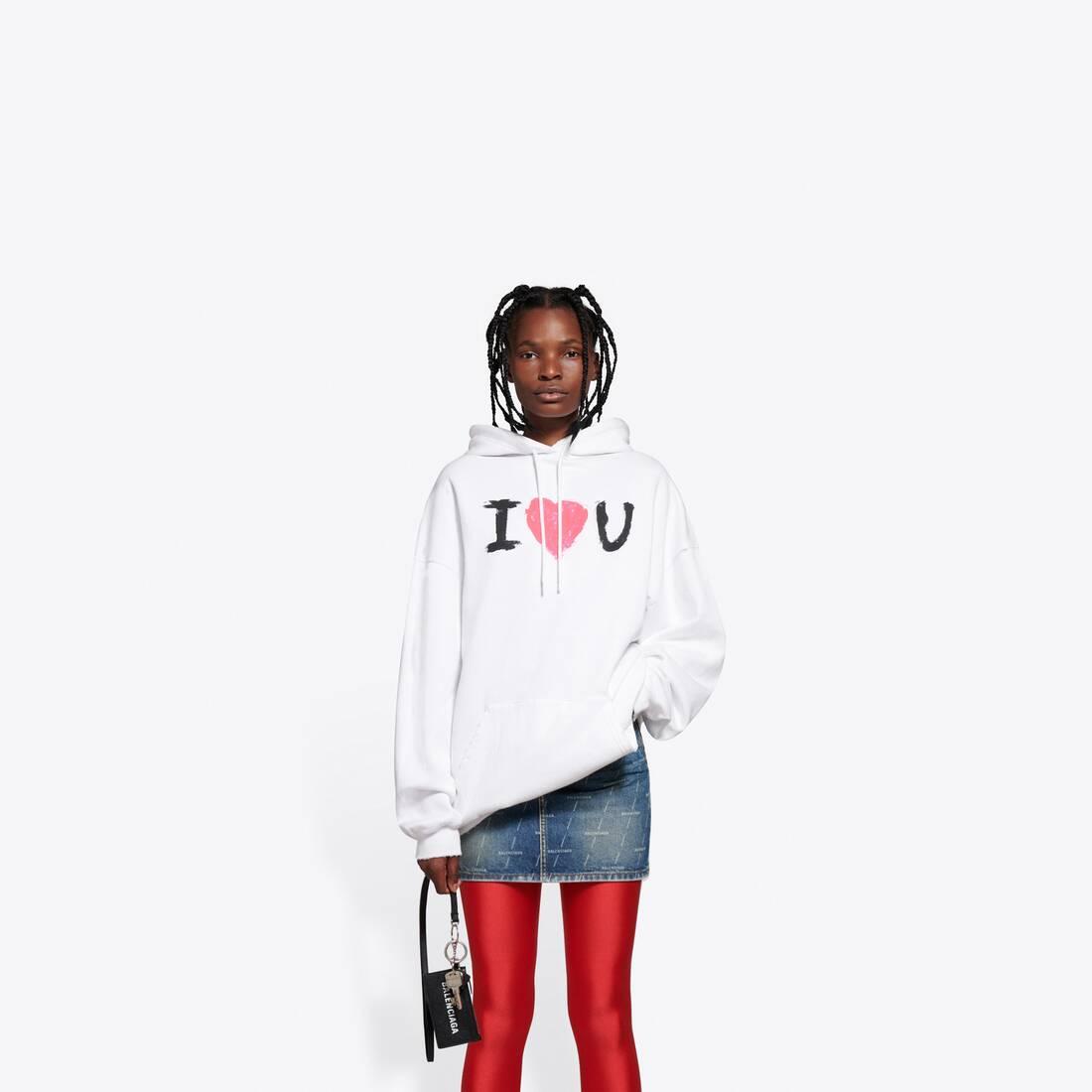 Display zoomed version of i love u medium fit hoodie 3